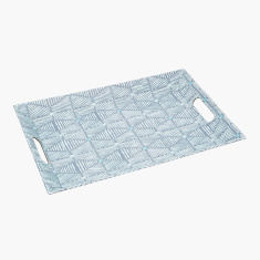 Breeze Printed Rectangular Tray with Handles