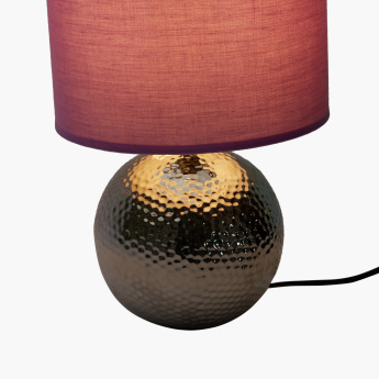 Zink Hammered Ball Electrical Table Lamp
