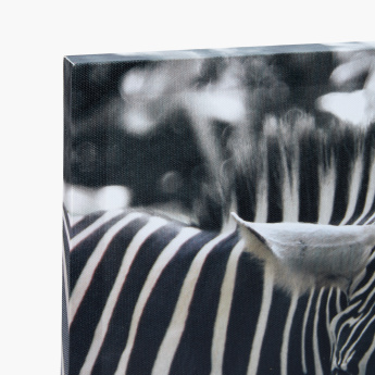 Zebra Printed Canvas Wall Decor