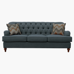 Country 3-Seater Sofa with 2 Pillows
