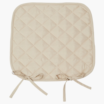 Uni Diamond Quilted Chair Pad - 40x40 cms