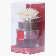 Floral Jasmine Aroma Diffuser with Aroma Oil Bottle - 75 ml