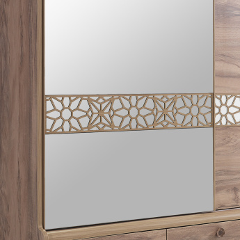 Trellis 2-Door Sliding Wardrobe with Mirror and 3-Drawer