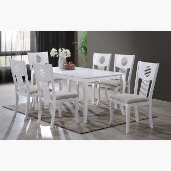 Queen Anne 6-Seater Dining Table Set