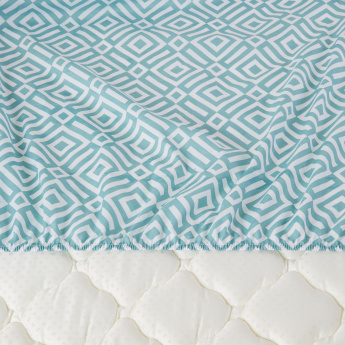 Blake Printed Fitted Sheet - 180x200 cms