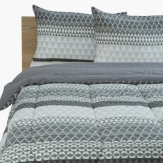 Hannah Printed 3-Piece Twin Comforter Set - 160x220 cms