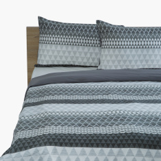 Hannah Printed 3-Piece Twin Duvet Cover Set - 220x150 cms