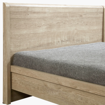 Curvy Queen Bed with Raised Headboard - 150x200 cms