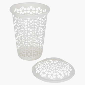 Florina Cutwork Detail Laundry Basket with Lid