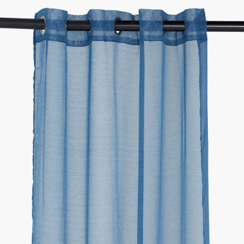 Indus Sheer Textured Eyelet Curtain Pair - 140x240 cms