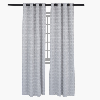 Filip Printed 2-Piece Eyelet Curtain - 140x240 cms