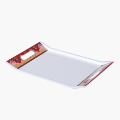 Marakesh Printed Serving Tray with Cutout Handles - Large
