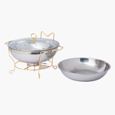 Wellshine Metallic Chafing Dish with Lid