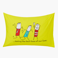 Happiness is Travelling Printed Pillow Cover - Set of 2