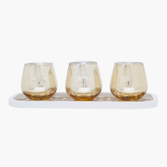 Imperial Decorative Candle Holder and Tray Set