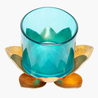 Lotus Decorative Tealight Holder with Glass Cup
