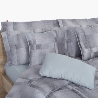 Titanium Printed 7-Piece King Comforter Set - 240x220 cms