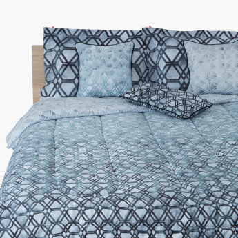 Affection Printed 7-Piece King Comforter Set - 240x220 cms