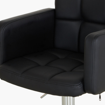 Picasso Upholstered Swivel Bar Stool