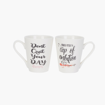 Ambition Printed Mug - Set of 2