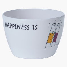 Happiness is Printed Bowl