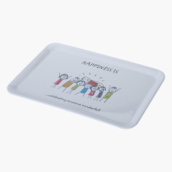 Happiness Printed Serving Tray