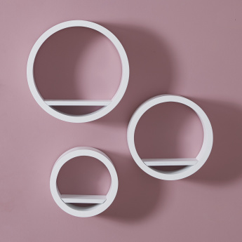 Alwan 3-Piece Round Wall Shelf Set