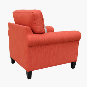 Angelic Textured 1-Seater Sofa with Cushion