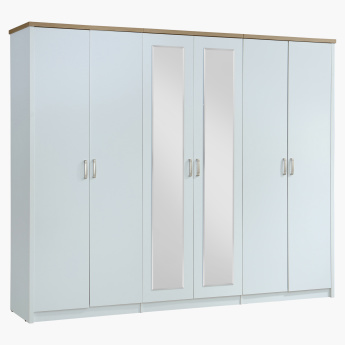 Sky 6-Door Wardrobe with 2 Mirrors