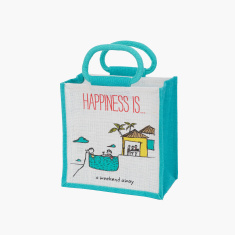 Happiness Printed Lunch Bag - Medium