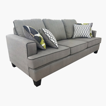 Burcham 3 Seater Sofa With Printed Scatter Cushions