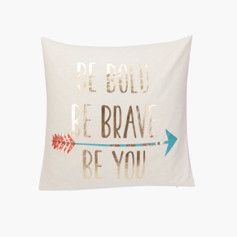 Be Bold Printed Filled Cushion - 45x45 cms