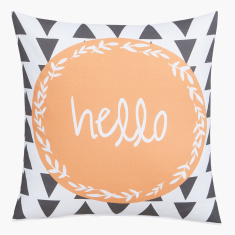 Hello Digital Printed Filled Cushion - 45x45 cms