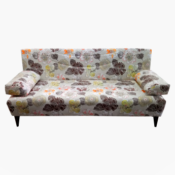 Demo Printed 3-Seater Sofa Bed
