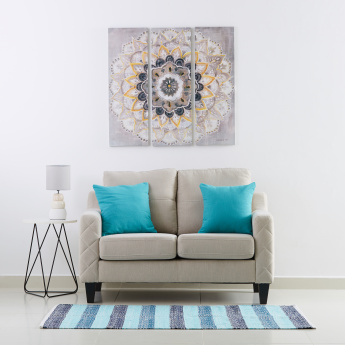 Mandala Print Canvas Framed Picture
