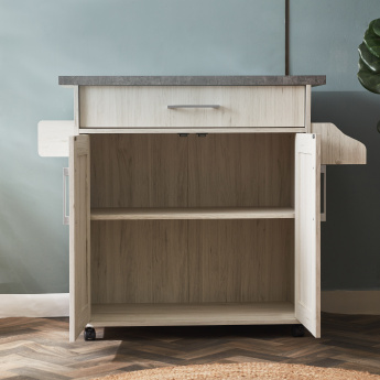 Pantry Microwave Extendable Cart