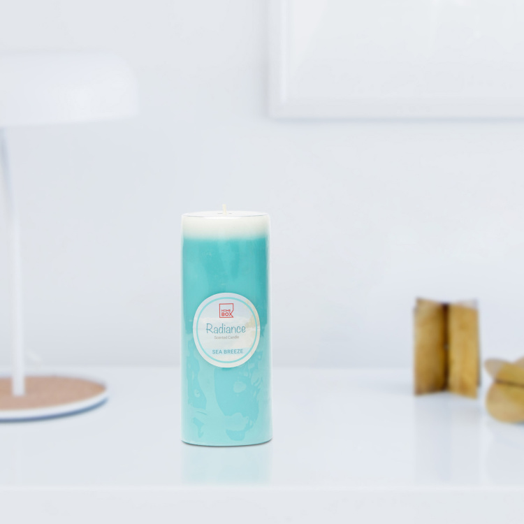 Radiance Sea Breeze Scented Wax Pillar Candle