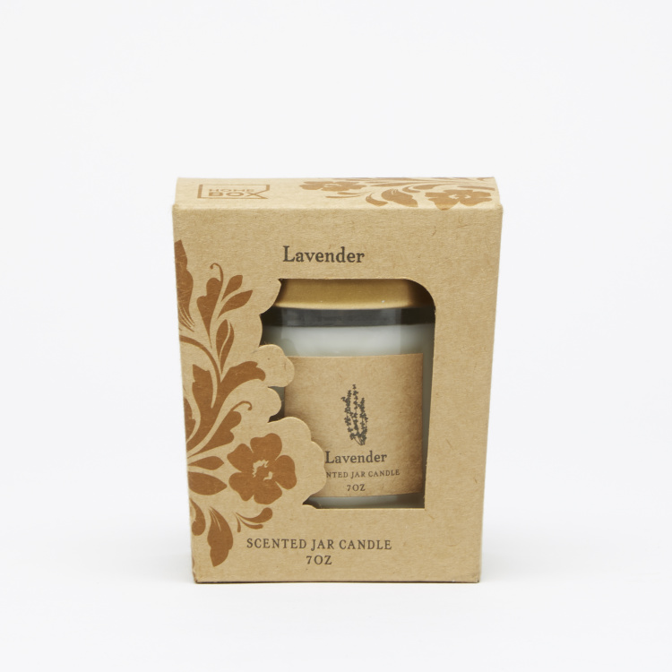 Energize Aroma Therapy Lavender Jar Candle with Lid