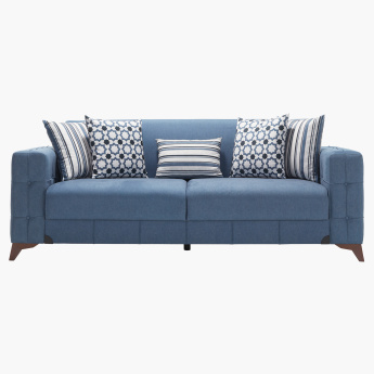 Morocco 3-Seater Sofa Bed with Printed Scatter Cushions