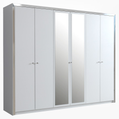 Hillary 6-Door Wardrobe with Mirror