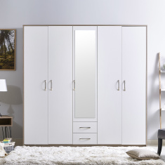 Lara 5-Door Wardrobe with Mirror