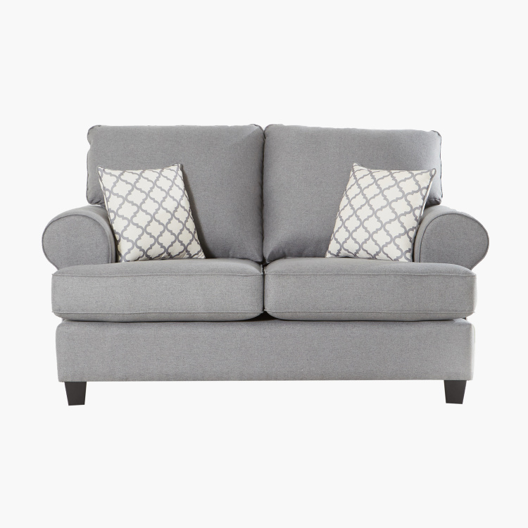 Donatella 2-Seater Sofa with 2-Scatter Cushions