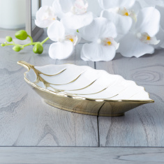 Sisley Leaf-Shaped Decor Tray
