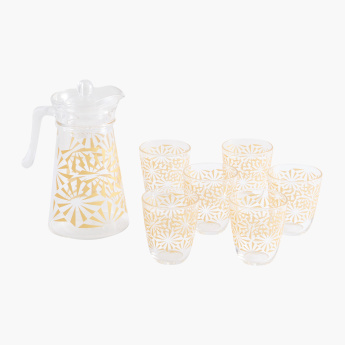 Sofya 7-Piece Printed Drink Set