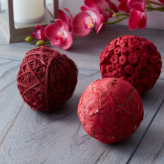 Fuzio 3-Piece Dry Flower Potpourri Ball Set
