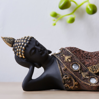Ornate Buddha Reclining Decorative Figurine