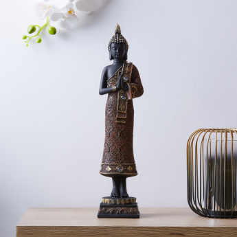 Ornate Buddha Praying Decorative Figurine