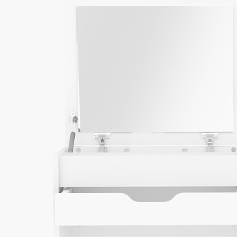 Oslo Compact 1-Drawer Dresser with Mirror and Stool