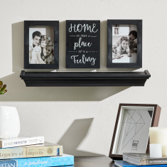Matilda Photo Frames with Wall Art and Shelf - Set of 4
