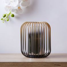 Skette Metal Candle Holder with Glass Tube Set